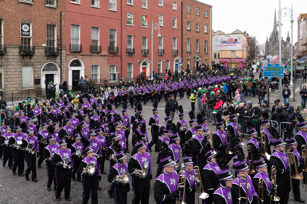 THE LUMBERJACK MARCHING BAND IN ACTION [ ST. PATRICKS DAY PARADE IN DUBLIN 2018]-137583