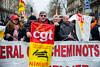 Manifestation des Cheminots (dprezat) Tags: paris manifestation contest protest opposition grève syndicat cgt cheminots sncf fonctionpublique fonctionnaire street people nikond800 nikon d800