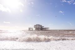 The remains of the West Pier, Brighton *3* (Zoë Power) Tags: westpier beach uk brighton derelict blueskies coast sea seaside