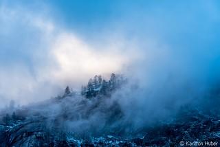 Yosemite Valley - Ridgetop Parting Clouds
