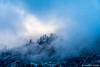 Yosemite Valley - Ridgetop Parting Clouds (www.karltonhuberphotography.com) Tags: 2015 approachingstorm buildingstorm clouds drama horizontalimage karltonhuber landscape light lookingup lowclouds mountaintop mystery nature outdoors ridgeline rugged sky trees wildplaces yosemite yosemiteconservancy yosemitenationalpark yosemitevalley