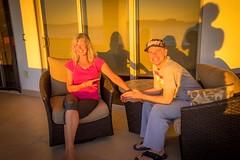 Sherry and Andrew enjoying the sunset.