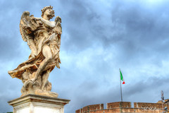 Angel with the Superscription (M Malinov) Tags: angel superscription roma rome roman italy italia lazio ponte bridge statue monument sky clouds италия рим монумент ангел santangelo