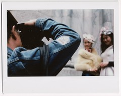 """Do I need a model release?"" (yarr2d2) Tags: speedgraphic graflex largeformat notreally4x5 instaxwide fujiinstaxwide polaroid instant doxie easter bonnetfestival2018 parade hats nyc newyorkcity"