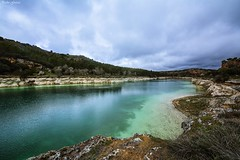 Ruidera, Laguna la Lengua. (Peideluo) Tags: water nubes paisaje lagoon landscape clouds cielo laguna roca agua