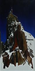 Aiguille du midi Acrylique sur toile 100x50 cm A VENDRE