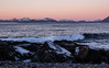 The very first sunset (katrin glaesmann) Tags: sea waves rocks sunset pink austvågøya lofoten norwegen norway wwwicelandtoursnet nordland mountain snow winter unterwegsmiticelandtours photographyholidaywithicelandtours 2018
