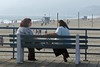 A Soulful Chat (AntyDiluvian) Tags: california santamonica pier santamonicapier bench women chat talk santamonicabeach