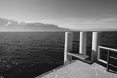 "Lac Léman (Svend RS) Tags: sonyilce7m3 sonya7 alpha a7m3 1224mm40 fe1224mmf4g sel1224g zoom wideangle ultrawideangle lake leman lac water blackandwhite monochrome noiretblanc ""artinbw"" biancoenero blancoynegro"