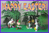 ES 2014-01  Looney Tunes Easter Season (StarRunn) Tags: easter holiday elmerfudd daffyduck sylvester tasmaniandevil eggs pvc toys looneytunes