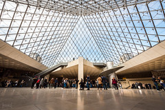 Pyramid at The Louvre, Paris, France (KSAG Photography) Tags: museum paris tourism europe france pyramid glass hdr nikon march 2018 wideangle architecture art history culture heritage louvre