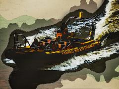 Full Throttle Exhilaration (Steve Taylor (Photography)) Tags: thamesribexperience thames jet raft rib art digital weird strange odd river uk gb england greatbritain unitedkingdom london texture boat