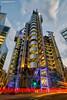 The Lloyd's building, Lime Street London. (Nigel Blake, 16 MILLION views! Many thanks!) Tags: thelloydsbuilding limestreet london lloyds architecture lighttrails