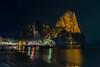 Railay   |   Beach Nightscape (JB_1984) Tags: rock karst limestone night reflection stars sea andamansea boat longtailboat beach westrailay railaybeach railay krabi krabiprovince thailand kingdomofthailand nikon d500 nikond500