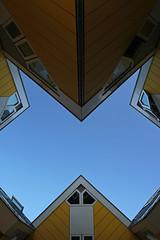 Kubuswoningen (urb_mtl) Tags: rotterdam kubuswoningen cube house maison cubique jaune yellow architecte piet blom architect architecture ciel sky urbain urban ville city paysbas netherlands catchycolors