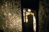 Window Detail (hollyzade) Tags: glass window bokeh light night dark white black detail pattern backlit door interesting indoor outdoor nikon d40 nikond40