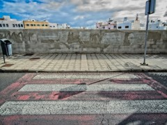I don't know why I like this but I do (Steve Brewer Photos) Tags: arrecife lanzarote pedestriancrossing spain street colour color zebracrossing streetscene wall