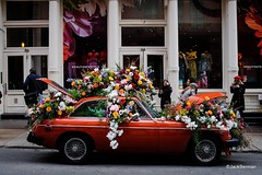 SoHo NYC (Jack Berman) Tags: nyc new york city soho street car flowers art display cityscape tourism travel commercial shopping store retail promotion