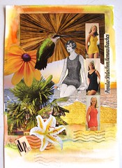 From Famous Beaches (collageDP) Tags: mixedmedia collage cutandpaste paper vintagepaper swimsuit vintageswimsuit vintgefashion summer woman
