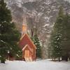 Yosemite Chapel, Yosemite National Park, Winter 2018 (bdrameyphotography) Tags: yosemitenationalpark yosemitevalley yosemitechapel california topazstudio topazimpressions aurora2018 skylum snow nikond810 hdr