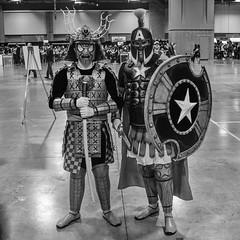 Samurai Spidey and Gladiator Cap II (misterperturbed) Tags: avengers awesomecon awesomecon2018 awesomecondc2018 captainamerica spiderman washingtondc samurai gladiator marvel