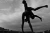 Quai Van Beneden (Liège 2018) (LiveFromLiege) Tags: blackandwhitephotography blackwhite blackandwhite statue sautemouton liège luik wallonie belgique architecture liege lüttich liegi lieja belgium europe city visitezliège visitliege urban belgien belgie belgio リエージュ льеж