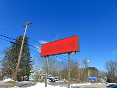 Benny's (Danielson, Connecticut) (jjbers) Tags: bennys discount store vacant closed abandoned danielson connecticut march 17 2018 road sign covered up