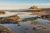Bamburgh Castle (djmeister) Tags: goldenhour northumberland england water sea beach bamburghcastle sand rocks