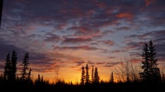 Spring Sunset (Katy on the Tundra) Tags: sunset sky clouds trees