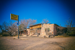Old Cuchillo Bar and Store (KPortin) Tags: ghosttown newmexico cuchillonewmexico bench hbm oldcuchillobarandstore sign abandonedbuilding