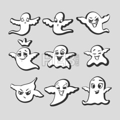 Set of emotional ghosts (Hebstreits) Tags: art baby background boo cartoon celebration character cheerful collection cute design emoji emotion expression eyes face fun funny ghost ghosts happy heart holiday icon illustration isolated kawaii lucky monster night party scary set sign smile spirit symbol vector web white