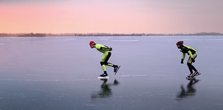Loosdrechtste Plassen is a playground for speed skaters