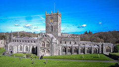 St.David's Cathedral West Wales view from Cathedral front. (James- Burke) Tags: architecture cathedrals churches historic scenic stdavids stdavidscathedral touristattractions ukarchitecture wales westwales