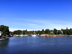 Finland, Helsinki Vicinity (dimaruss34) Tags: newyork brooklyn dmitriyfomenko image sky clouds finland svetlanafomenko helsinki vicinity trees forest water shore yacht yachts