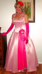 I simply adore wearing this fabulous pink satin gown . (Priscilla St. John) Tags: pink tranny transvestite gown satin pretty glam glamorous blonde passion happy m2f crossdressed crossdressing xdresser priscilla gurl tgirl glamqueen princess