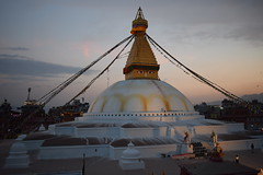 Baudhanath बौद्ध स्तुप (sandhya.sahi) Tags: baudha baudhanath stupa sunset sky skyline nature buddha kathmandu prayer flags evening stroll happynewyear newyeareve nepalinewyear2075 landscape breathtakingview breathtakinglandscape beginner photography dslr nikon nikond3300 mountains valley tgif eyes