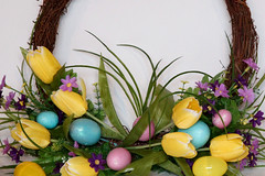 Easter Wreath 04-01-18 (MelenaMe) Tags: easterwreath wreath spring tulip tulips egg eggs eastereggs