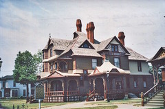 Muskegon Michigan  - Hackley and Hume Historic Site (Onasill ~ Bill Badzo) Tags: hackley hume historical site muskegon mi michigan museum victorian house mansion nrhp lumber king queen anne architecture onasill attraction tourist travel tours dome turrets outdoor building style period property heritage window door portico stairs turret cone erie revert reuse adaptive headquarters cross red carriage landmark wood historic sky roof msukegoncounty