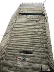 HEXAGON APARTMENTS (Phil Gyford) Tags: newtonstreet building buildings hexagon construction scaffolding scaffoldsheeting wrapped hexagonapartments apartments coventgarden uk london