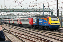 East Midlands Trains 43049 (Sam Pedley) Tags: 43049 nevillehill hst highspeedtrain class43 intercity125 eastmidlandstrains emt virgineastcoast virgintrains 43075 doncasterstation doncaster 1d11 brel brelcrewe britishrailengineeringlimited loco diesellocomotive locomotive dieselloco diesel ecml eastcoastmainline vehicle train railway railroad
