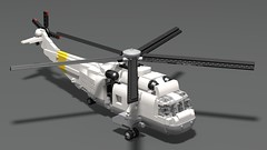 SH-3 Sea King Render (Brick Defense) Tags: legomilitary lego helicopter seaking usn usnavy