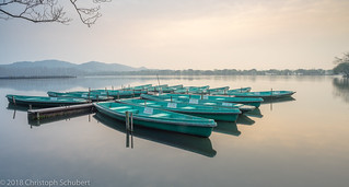 Boats after sunrise