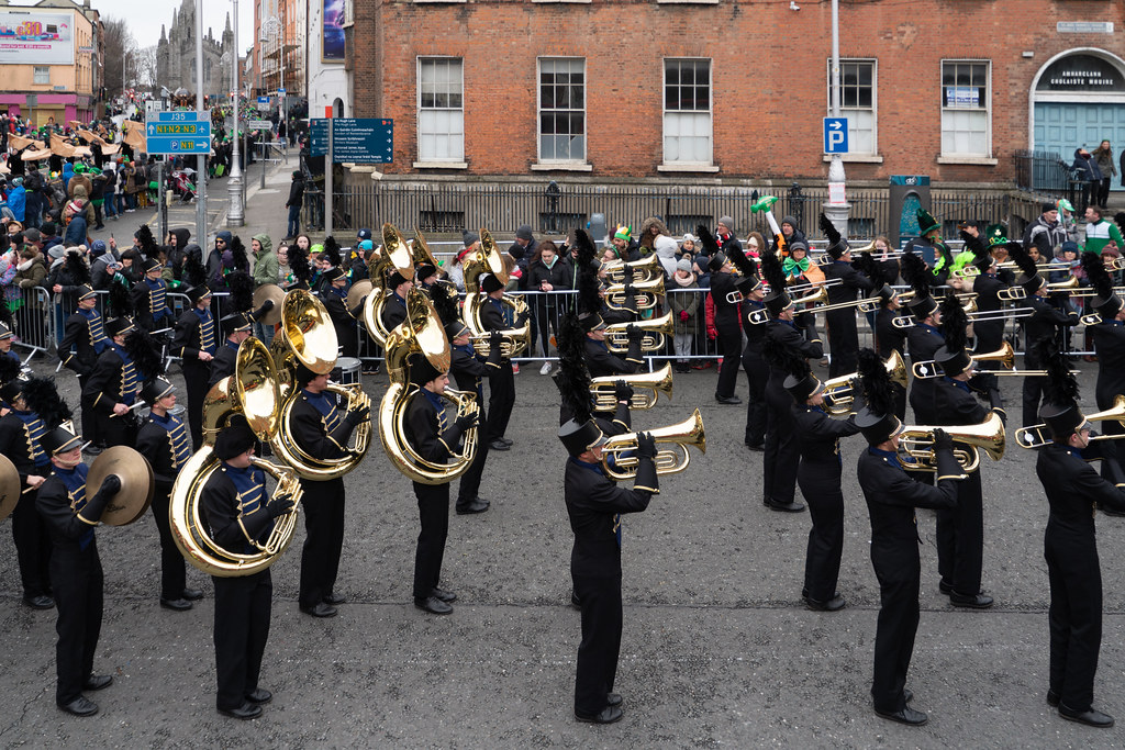 Legacy High School Lightning Marching Band [St. Patricks Day Parade 2018 In Dublin]-137535