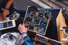 KojiCrill_Tuesday_Merch-4118 (Treefort Photo Dept) Tags: merch shopping the owyhee tuesday table pins patch patches