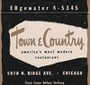 Town and Country Restaurant Matchbook Cover - Chicago, Illinois (hmdavid) Tags: vintage matchbook matchcover cover midcentury art illustration advertising towncountry townandcountry restaurant chicago illinois 1950s