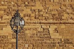 Malta Streets (Douguerreotype) Tags: light city wall malta architecture valletta lamp