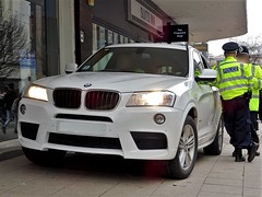 West Midlands Police Unmarked BMW X3 Driver Training Unit, Birmingham City Centre. (Vinnyman1) Tags: west midlands police unmarked bmw x3 driver training unit dtu bronze command osu operational support emergency services service rescue 999 central england uk united kingdom gb great britain fla football lads alliance dfla democratic far right demonstration demo march protest tommy robinson