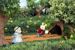 Sylvanian Families - Alice in Wonderland! (Sylvanako) Tags: sylvanian families toy toys diorama miniature alice wonderland bunny rabbit fairy tale