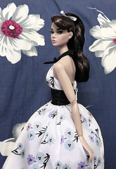 In a world of my own (duckhoa_le) Tags: alice wonderland poppy parker paris springtime spring time black hair raven japan white skintone pony tail bow flower flowers floral bon france collection 2017 2018 disney barbie 1951 doll fashion integrity toys toy photography imagination whimsical art fairy tale convention