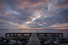 Sunset at Schildmeer (koos.dewit) Tags: nl 2018 fujifilm fujifilmxt2 fujinonxf1024mm groningen koosdewit schildmeer thenetherlands clouds cloudscape jetty koosdewitnl lake landscape seascape sunset